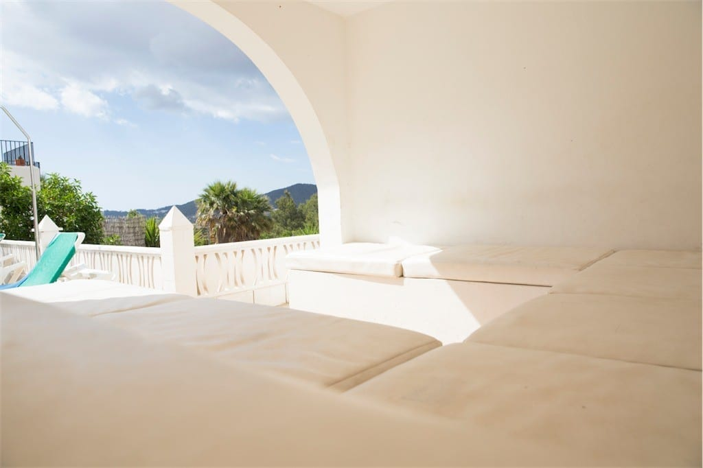 Chill out area on terrace at Villa Maria