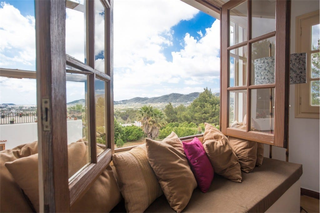Stunning country views from lounge window