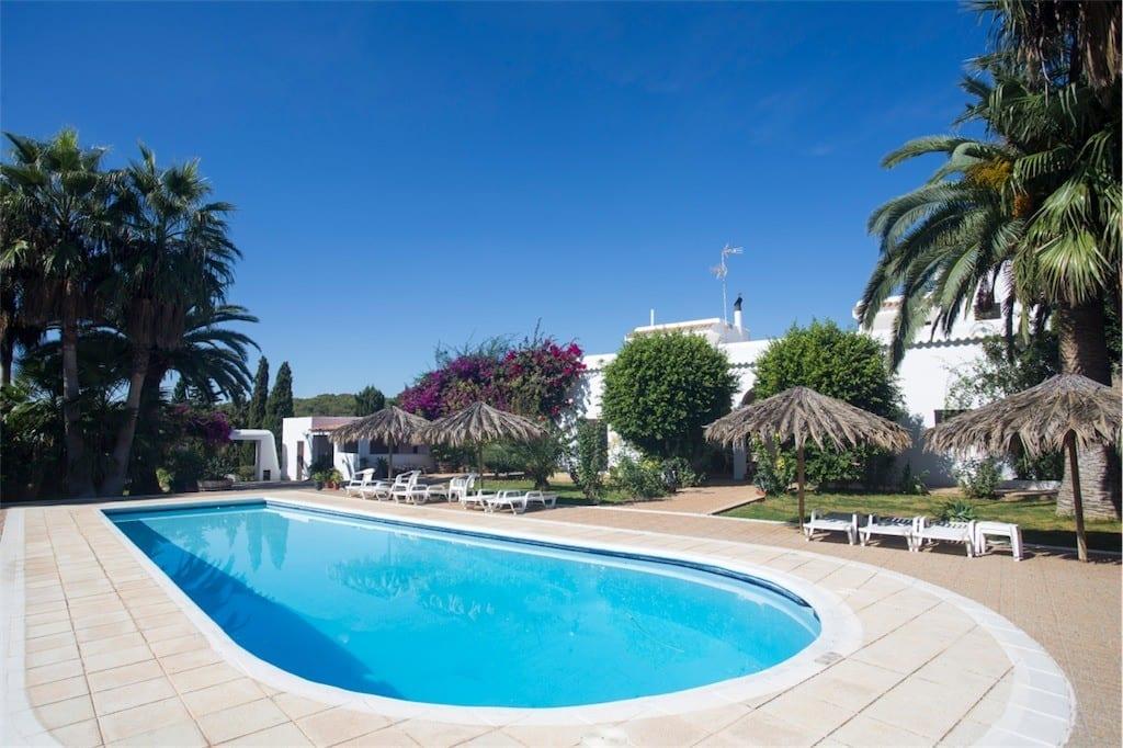Beautiful pool and gardens at Villa Nieves