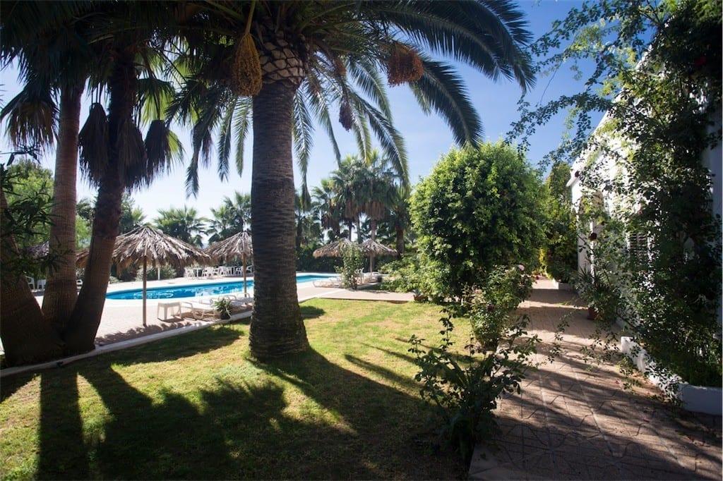Well kept gardens surround Villa Nieves
