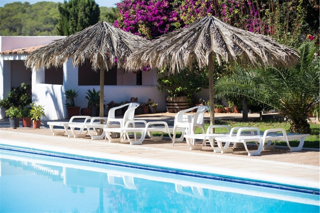 Parasols give welcome shade by pool