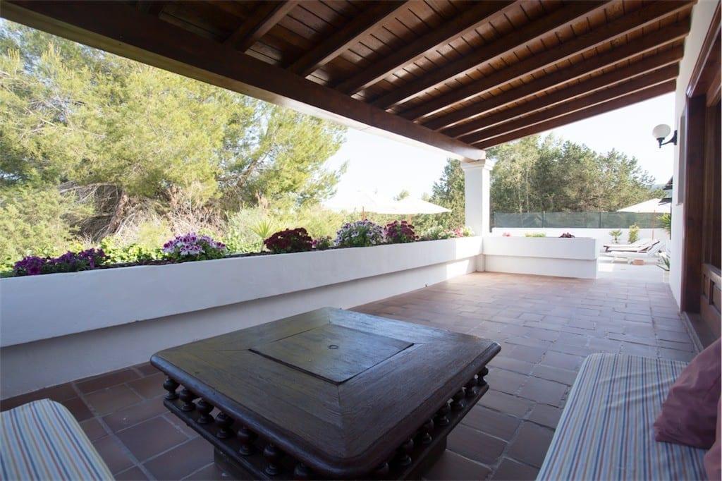 chill terrace at casa carolle ibiza