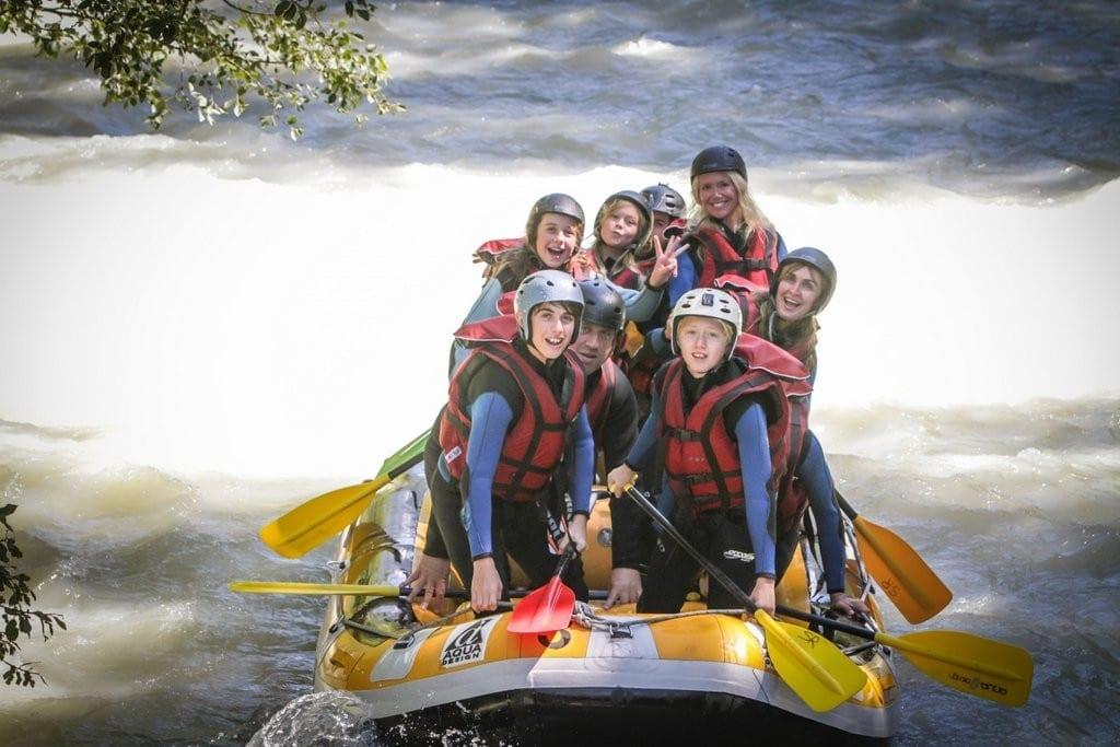 white water rafting chamonix the alps