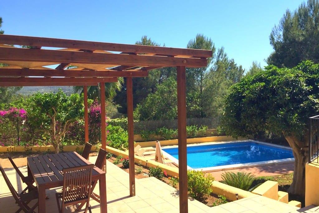 Pool and gardens at Villa Los Olivos