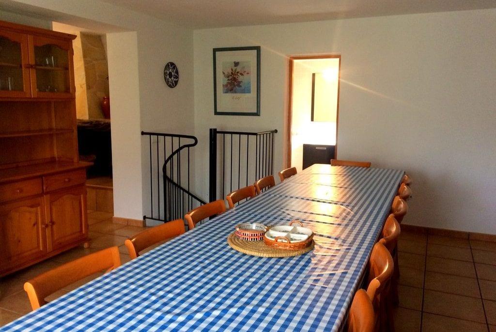 Large kitchen table at Villa Alexa