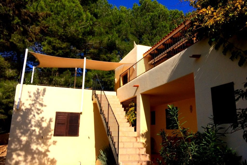 Stairs at side of villa Los Olivos