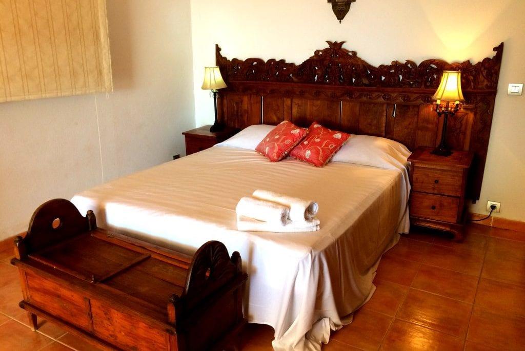 Master bedroom at Villa Los Olivos