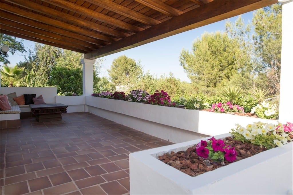 ground floor garden terrace casa carolle ibiza