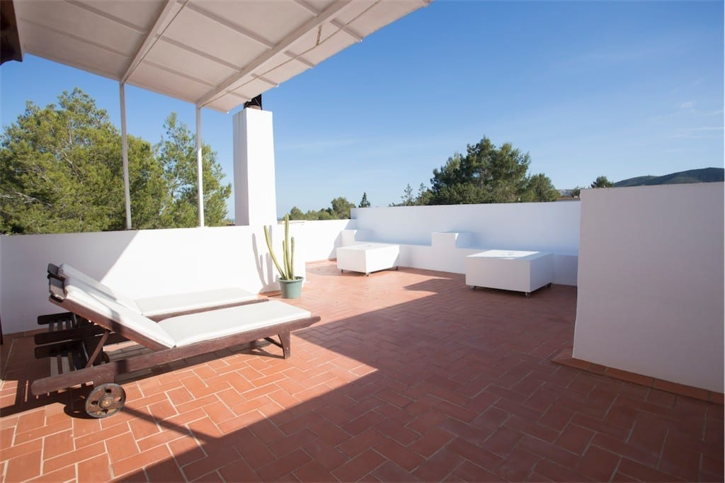 roof terrace at casa carolle ibiza