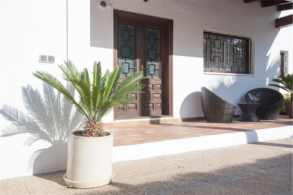front porch at casa carolle ibiza