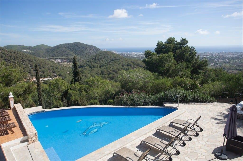 Villa near Ibiza town with sea views
