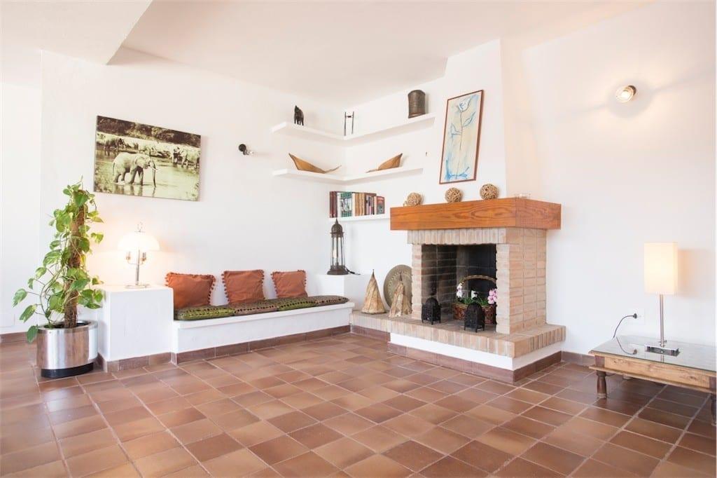 first floor sitting room at casa carolle ibiza