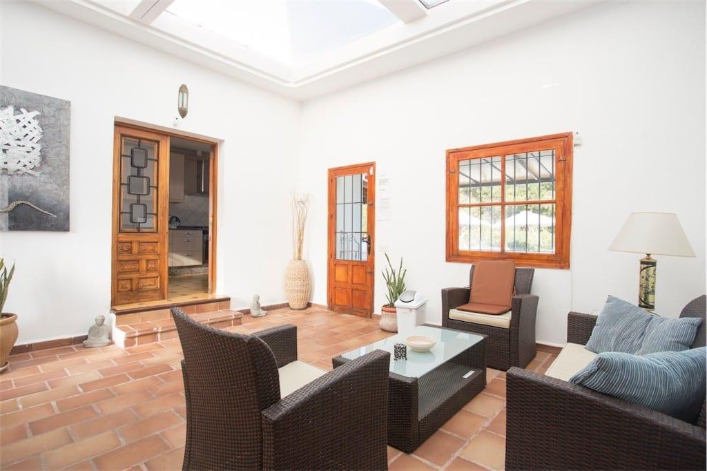 atrium sitting room at casa carolle ibiza