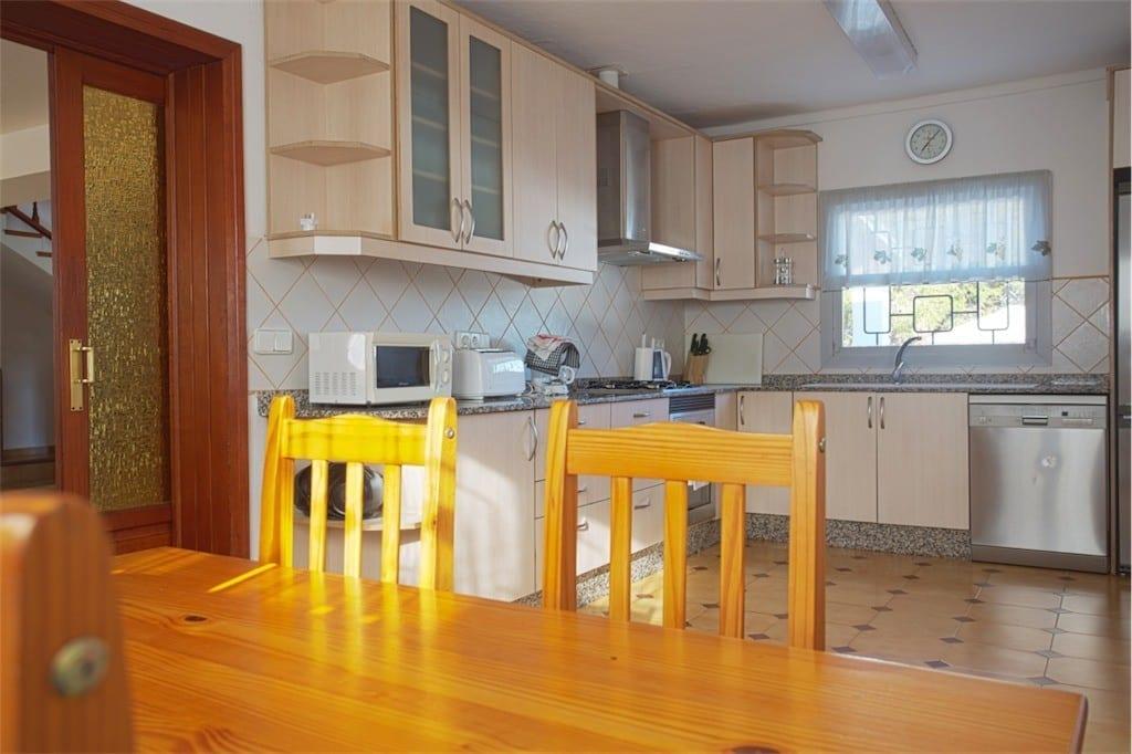 kitchen diner at casa carolle ibiza