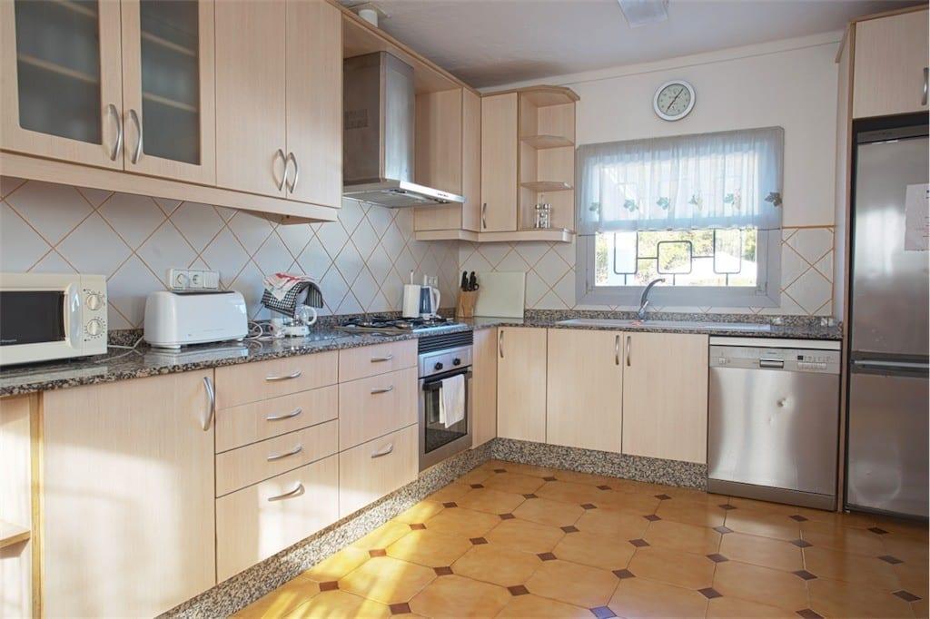 kitchen at casa carolle ibiza