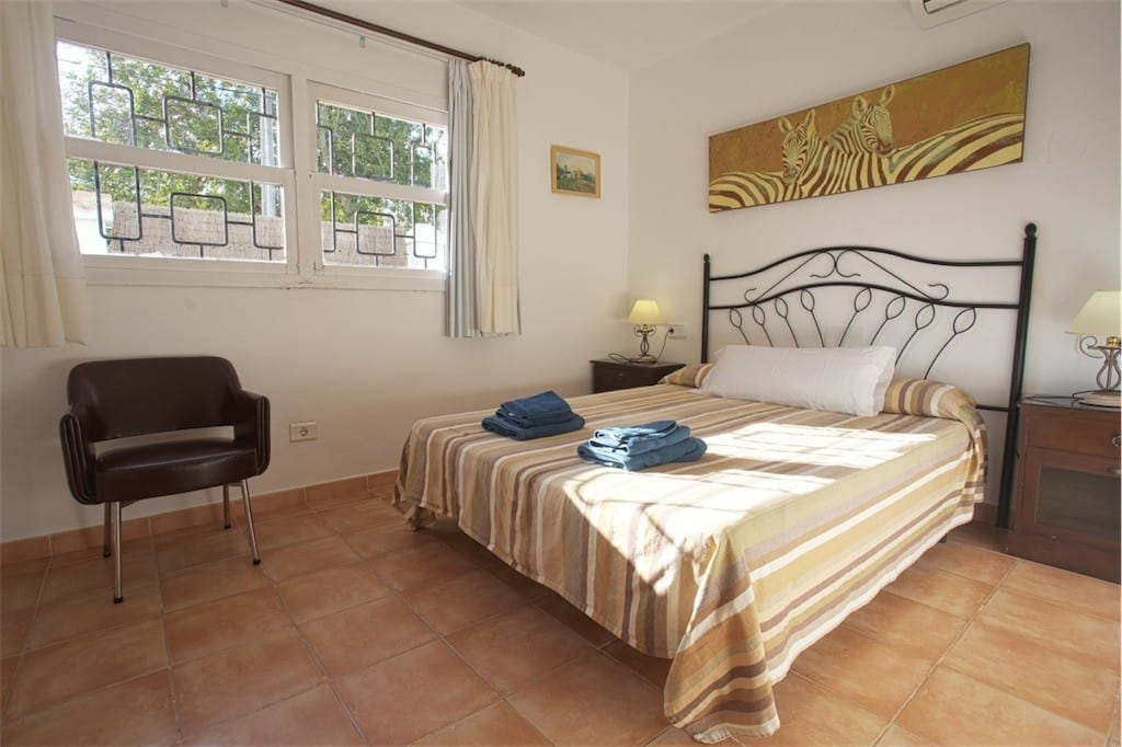 ground floor double bedroom at casa carolle ibiza