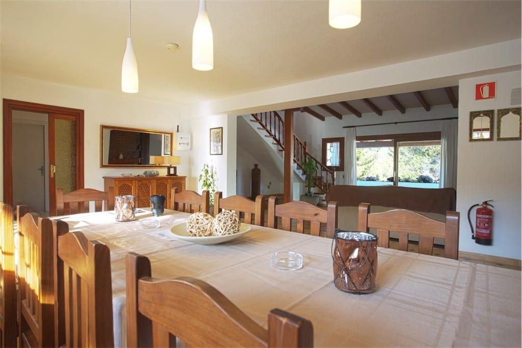 dining area at casa carolle ibiza