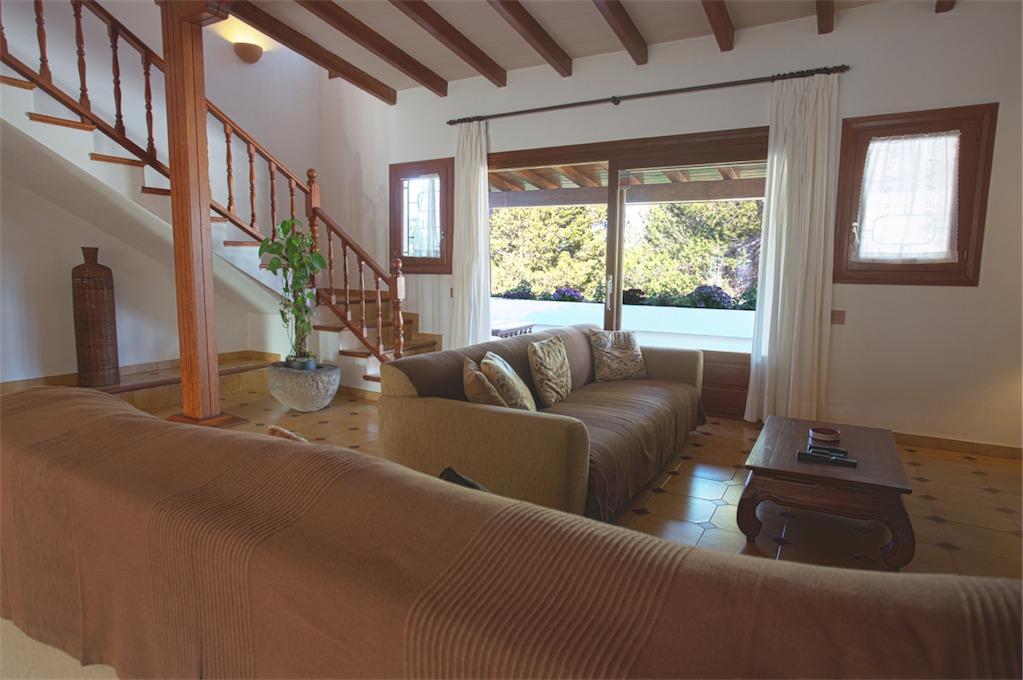 lounge area at casa carolle ibiza