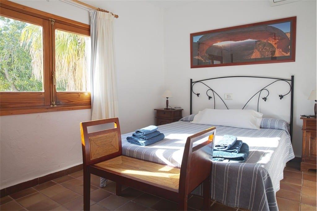 double bedroom at casa carolle ibiza