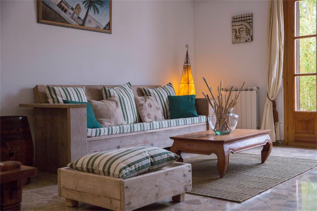 Living room at Villa Ania.
