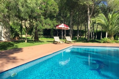 pool and garden at casa galop