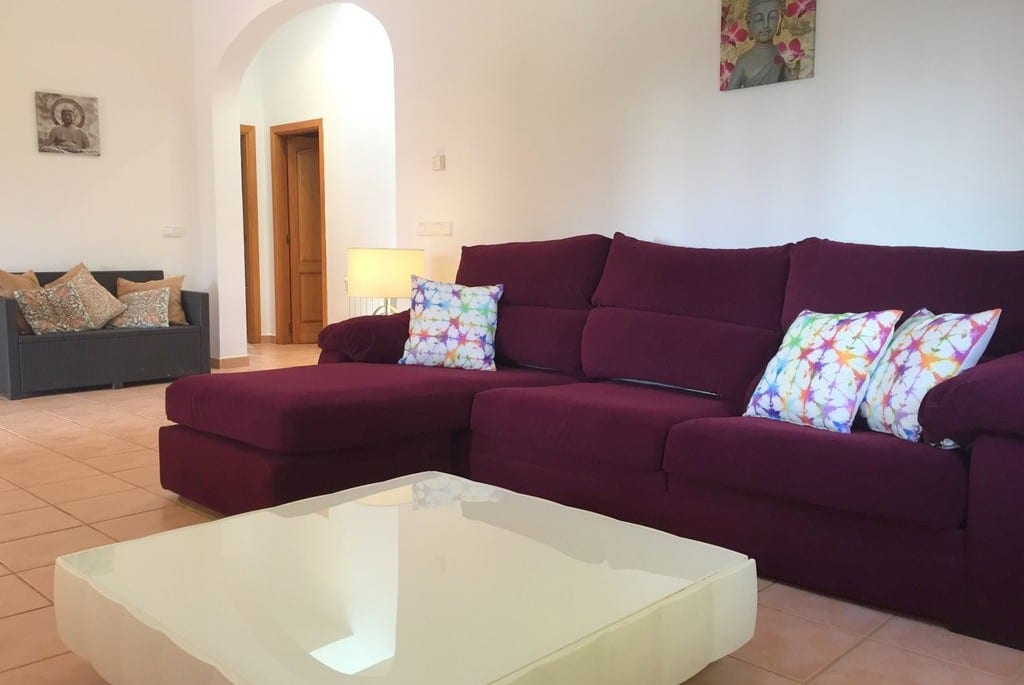 Large sofa and coffee table