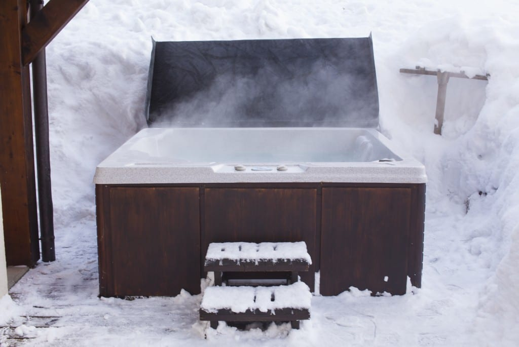ski chalet hot tub morzine