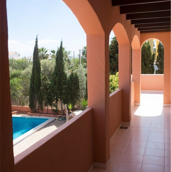 upper terrace at Villa Alberto Ibiza