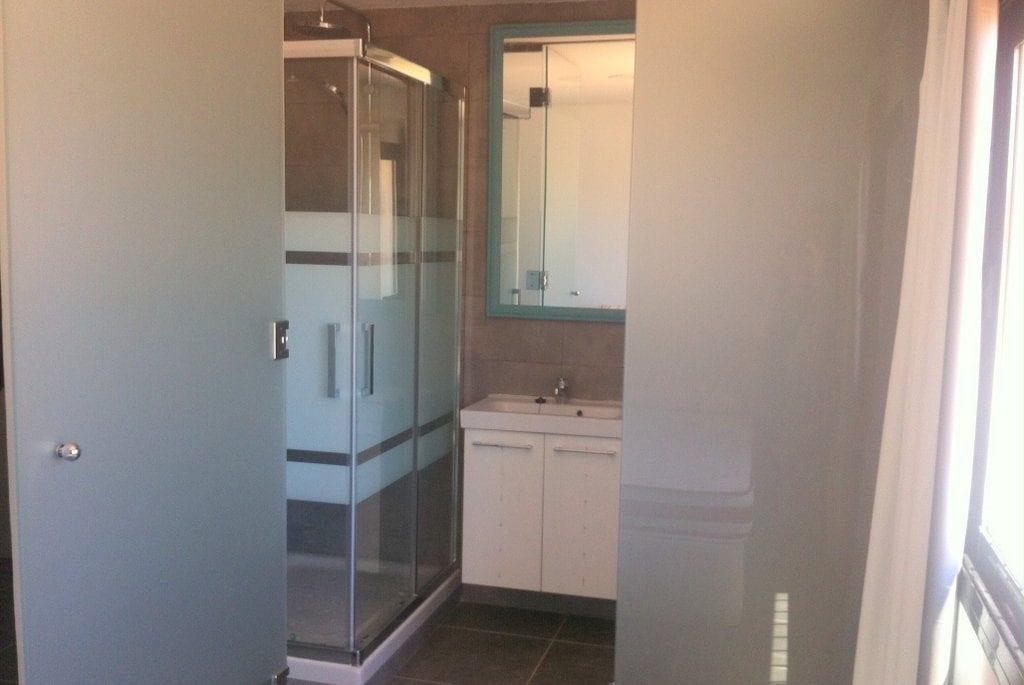 Lovely glass modern shower room