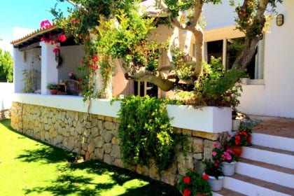 private Ibiza villa with security