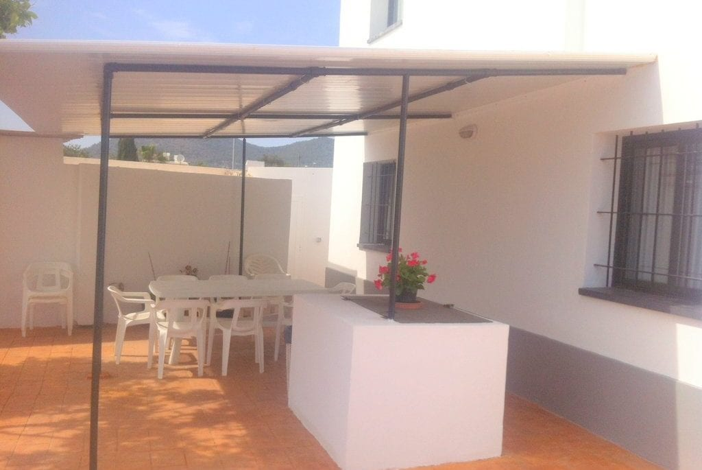 Outside covered dining area at Villa Torres