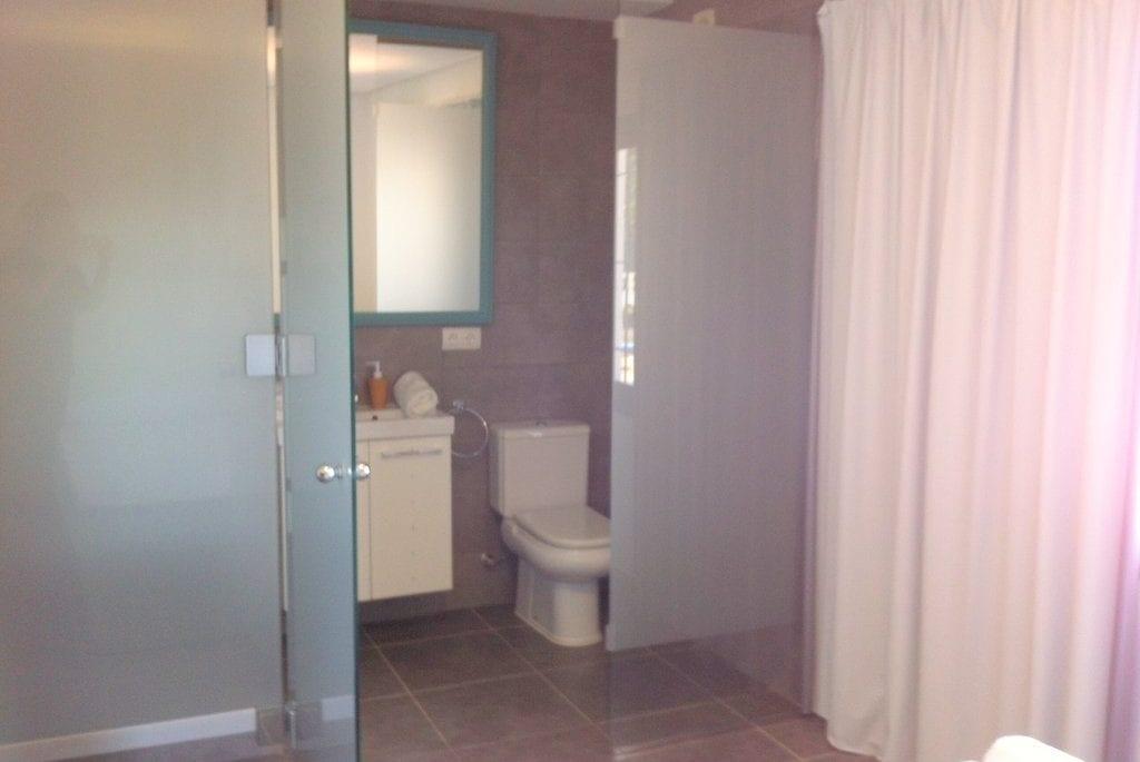 Modern ensuite shower room at Villa Torres