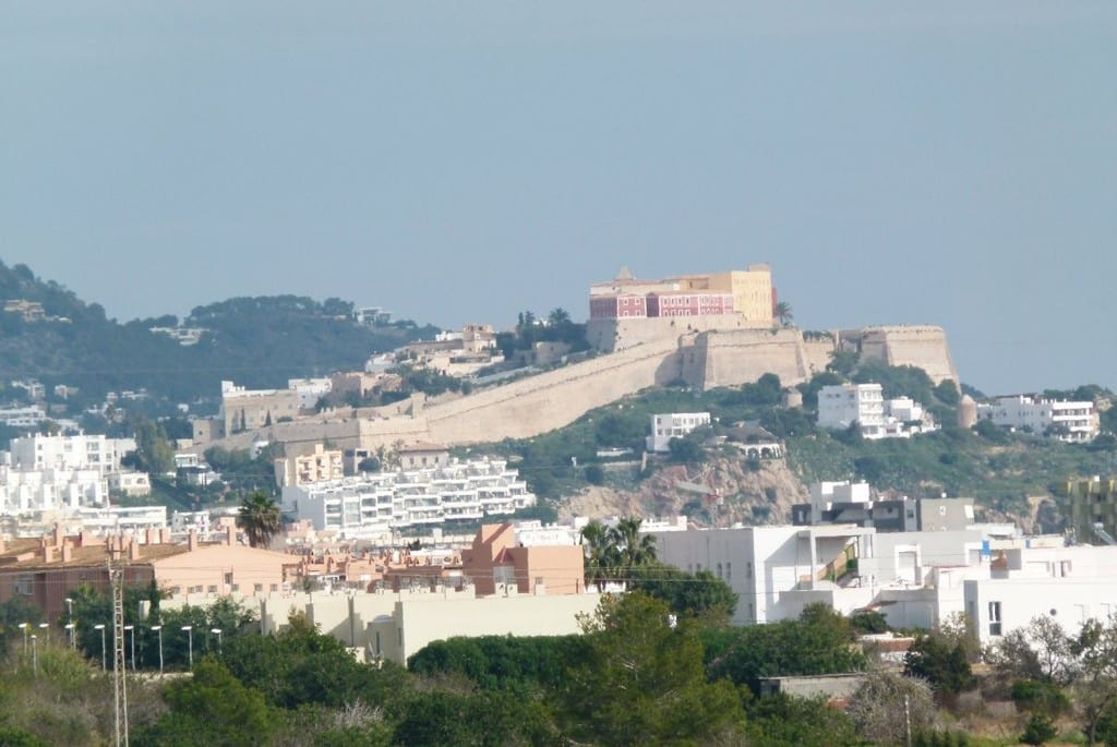 View of Ibiza Old Town and surrounding area
