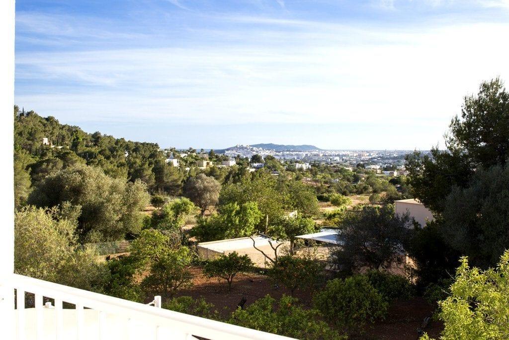 Views of Ibiza Town taken from Balcony at Villa Louisa