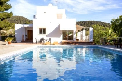 Private Pool at beautiful villa in Ibiza