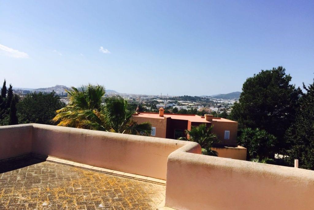 views over Ibiza Town