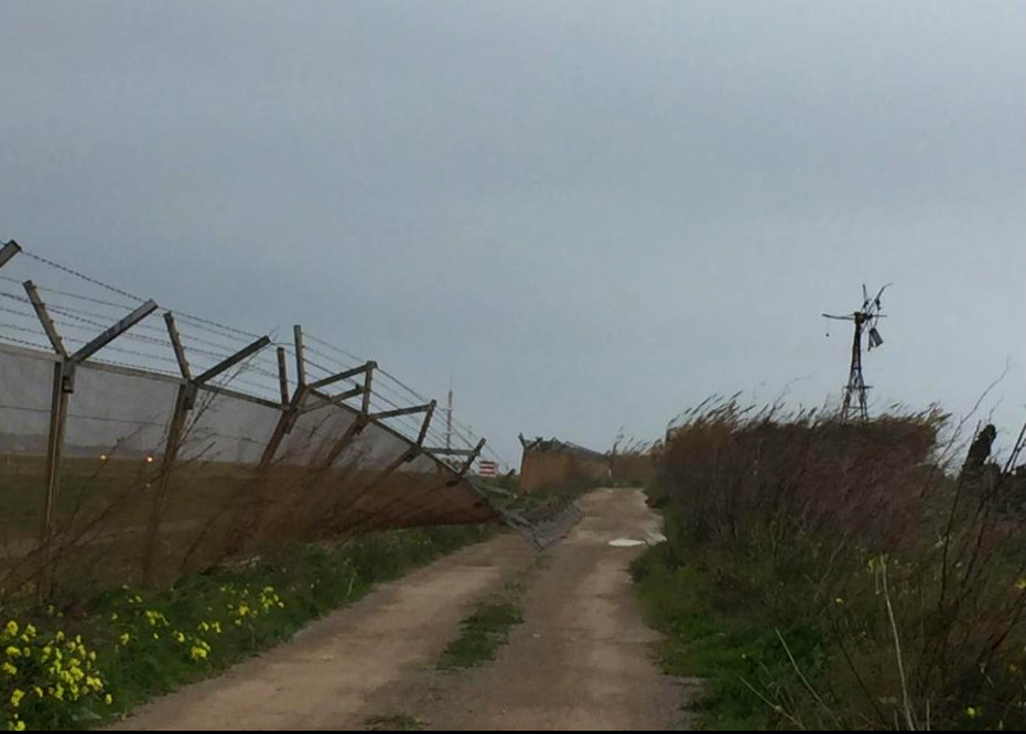 Ibiza weather squashes airport fence
