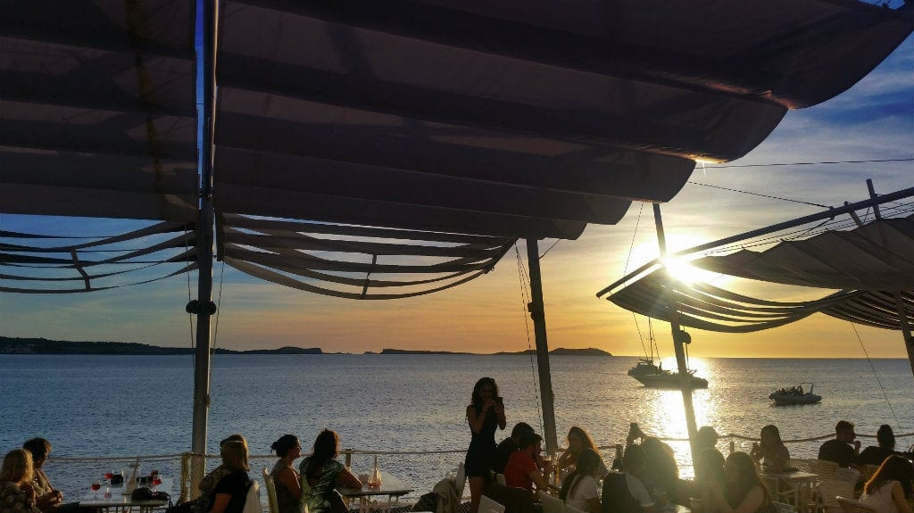 Ibiza in June - sunset strip
