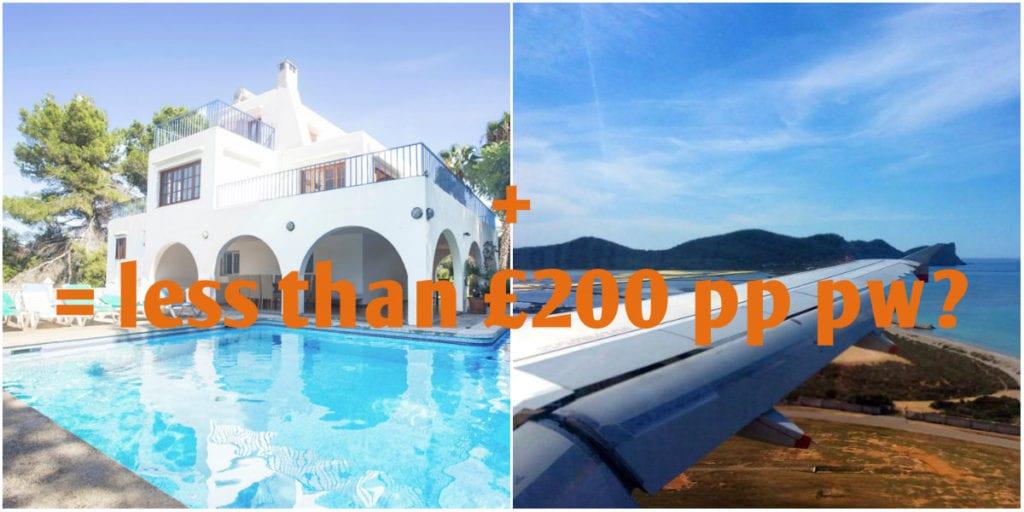 rent an Ibiza villa plus flight
