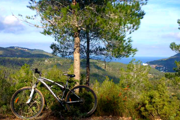 February in ibiza cycling