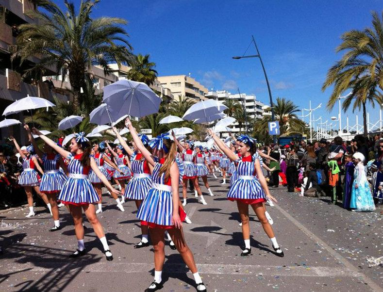 February in Ibiza carnival