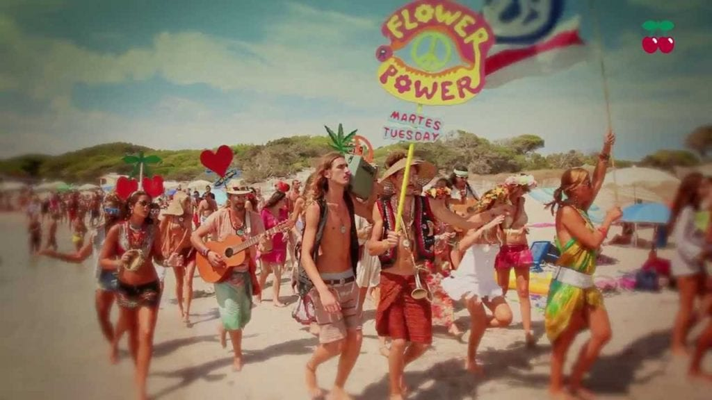 March in Ibiza - flower power on the road