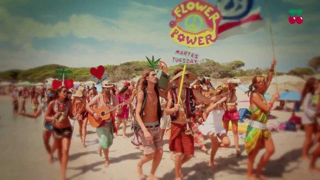 July in Ibiza - flower power PRs