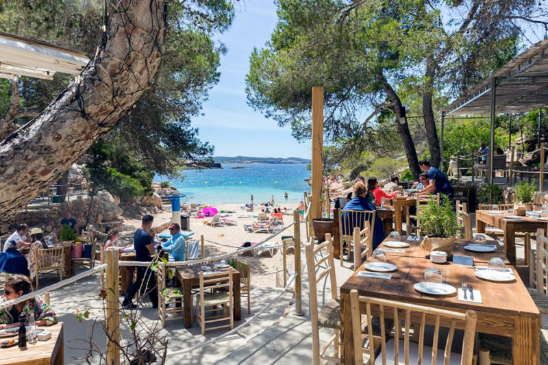 Ibiza in April lunch at Cala Gracioneta