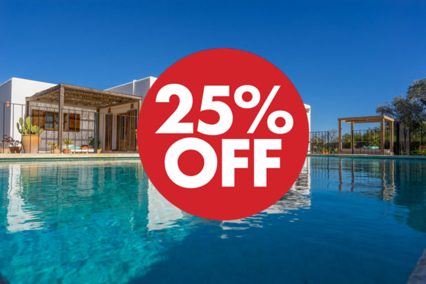 Ibiza rental villas 25% off