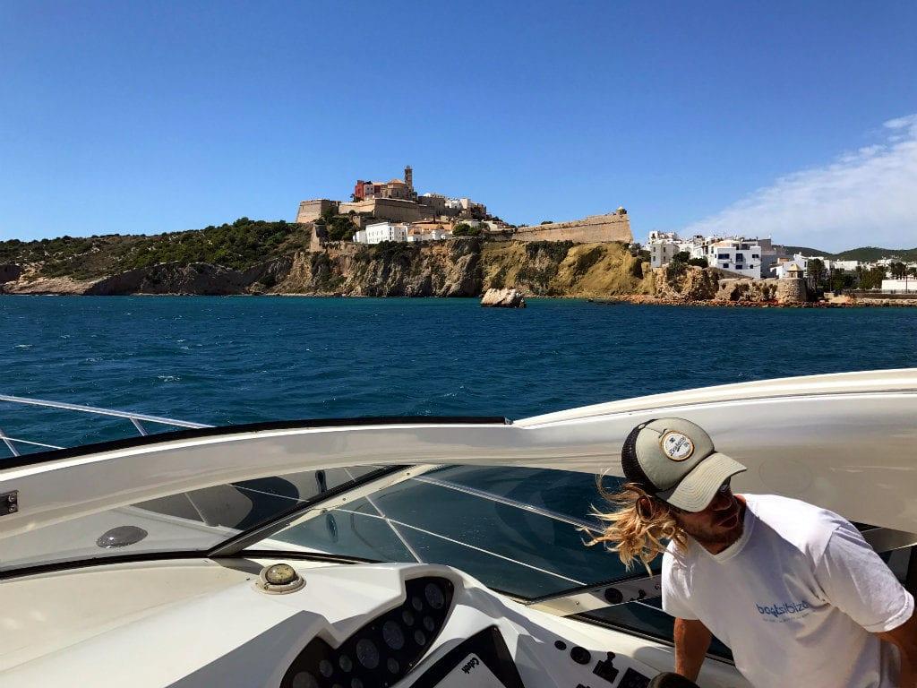 Ibiza in May water taxi