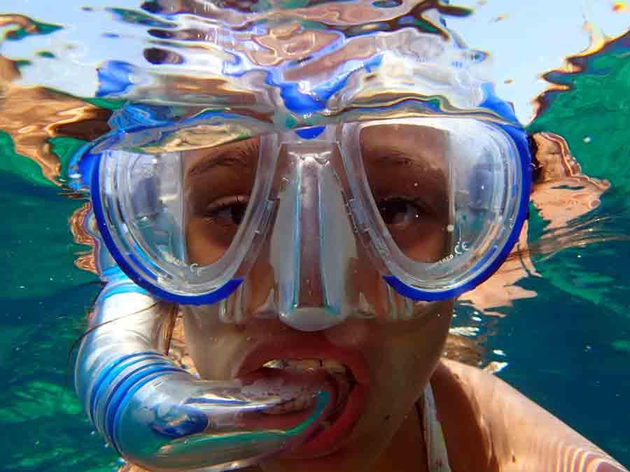 Ibiza in July snorkeling