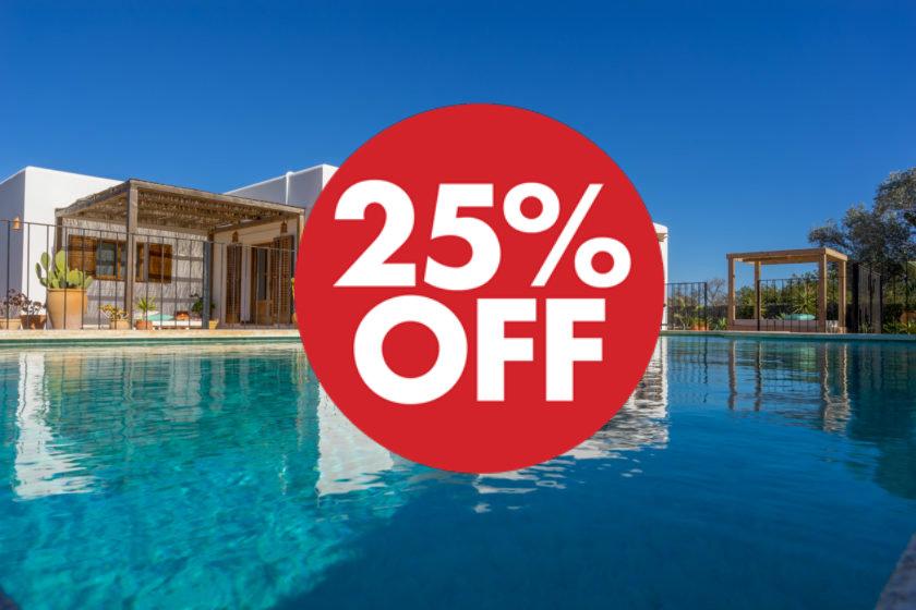 Ibiza rental villas 25% off
