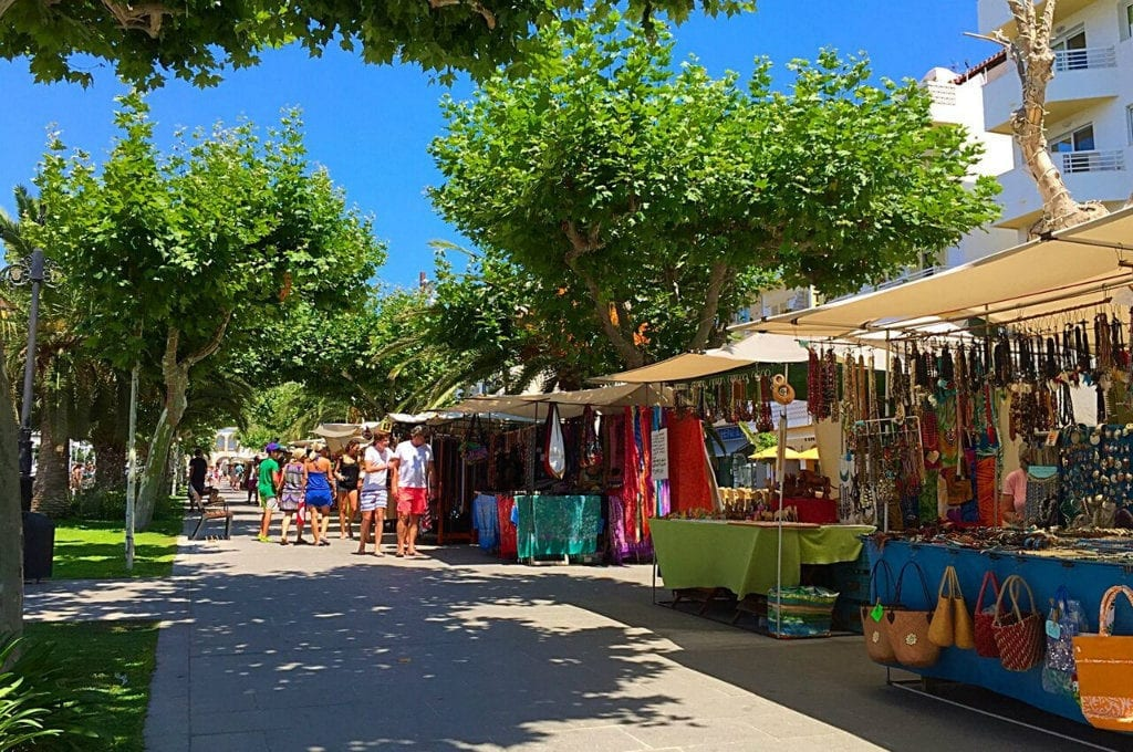 Ibiza in July Santa Eulalia
